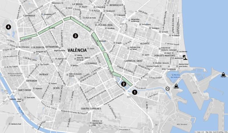 Ziele für Landausflüge in Valencia