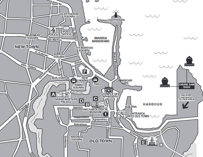 Karte der Altstadt