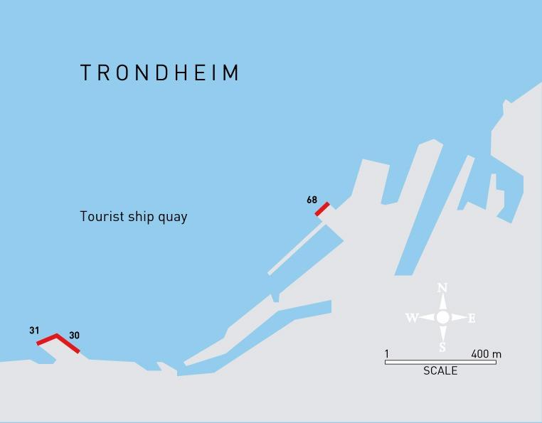 Karte des Hafens