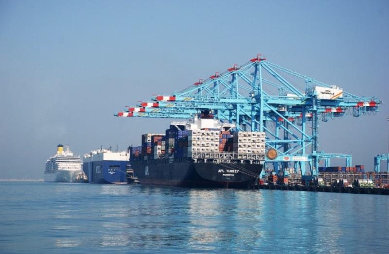Kreuzfahrtschiffe im Industriehafen