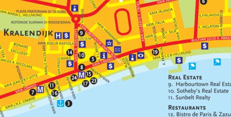 Lage der Liegeplätze in der Stadt