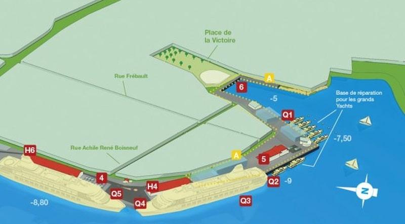 Lageplan des Hafens
