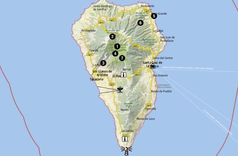 Ziele für Landausflüge auf La Palma