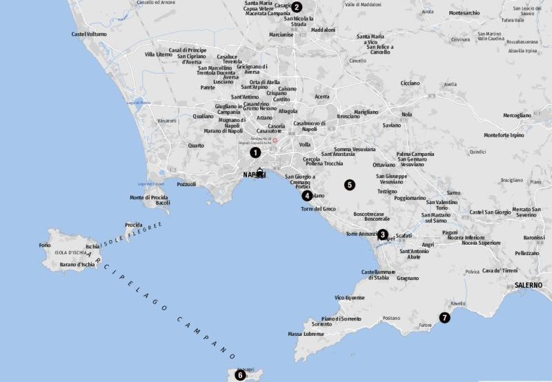 Ziele für Landausflüge in Neapel