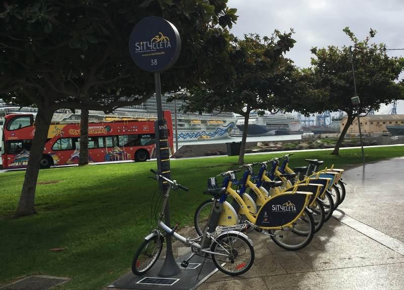 Leihfahrräder am Hafen