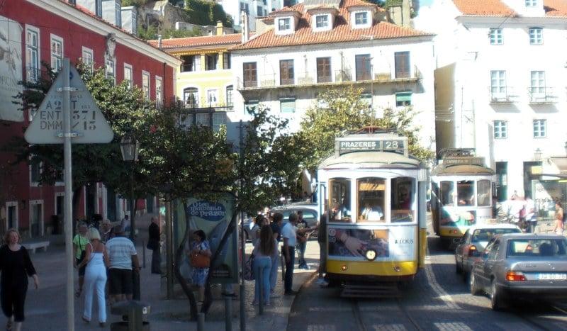 Linie 28E der Straßenbahn in Lissabon