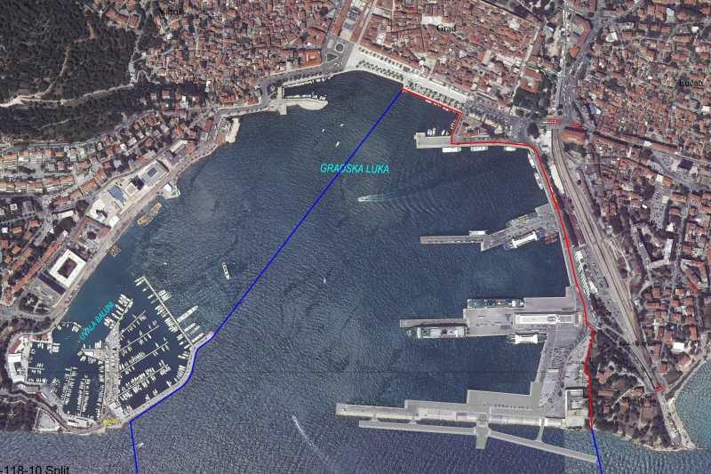 Der Hafen aus der Luft