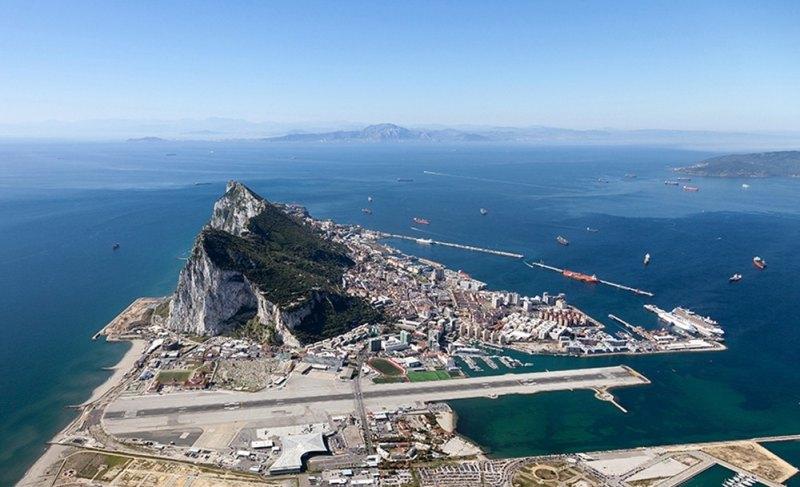 Gibraltar aus der Luft