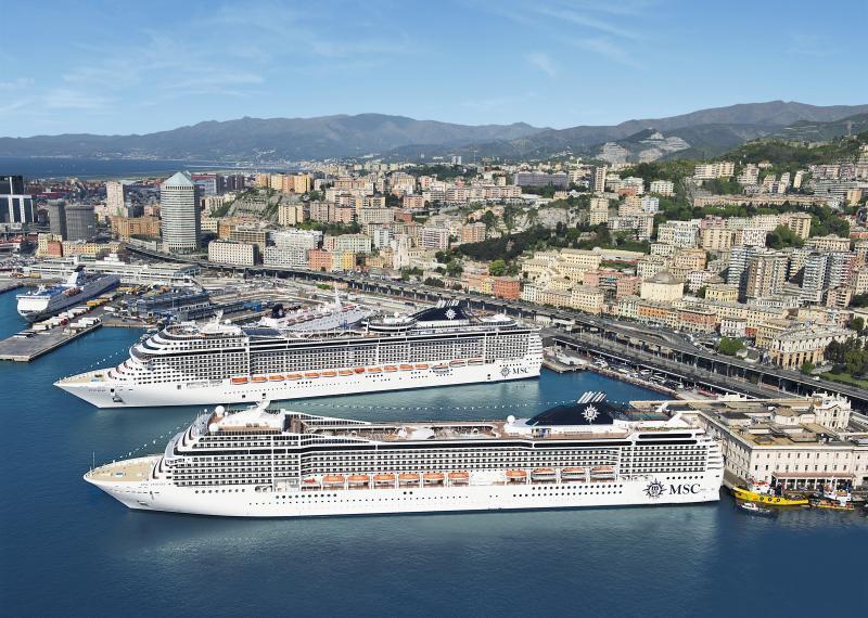 Kreuzfahrtschiffe in Genua
