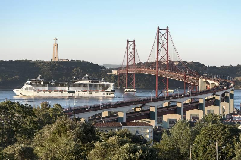 MSC Meraviglia erreicht Lissabon