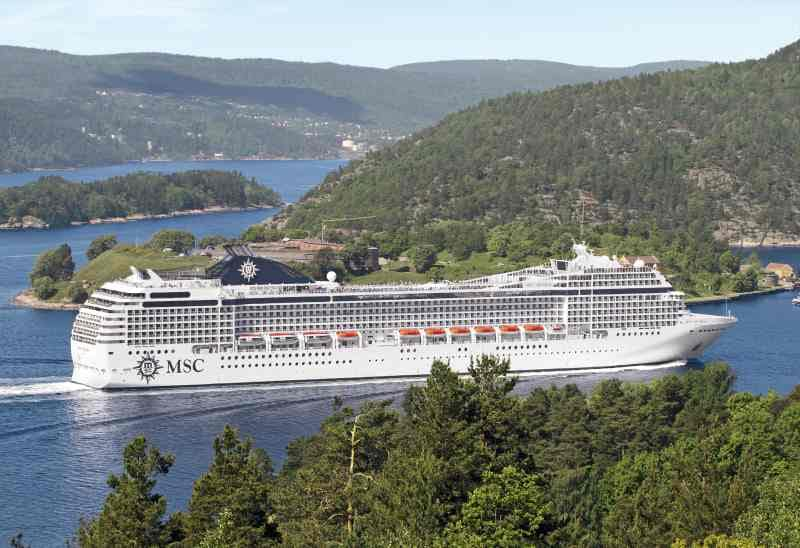 MSC Musica im Oslofjord