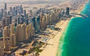 Marina Beach aus der Luft