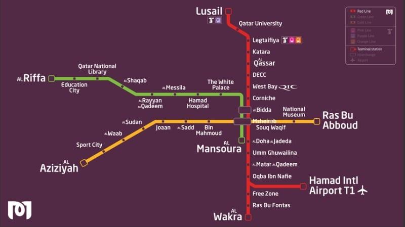 Die Metro für Landausflüge in Doha