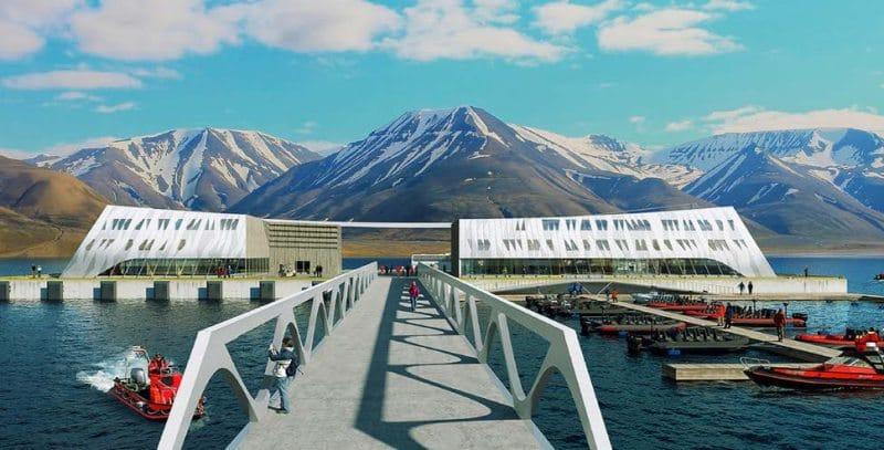 Grafik des neuen Kreuzfahrthafens von Longyearbyen
