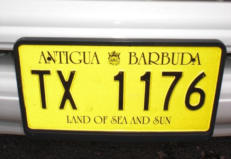 Kfz-Kennzeichen Antigua