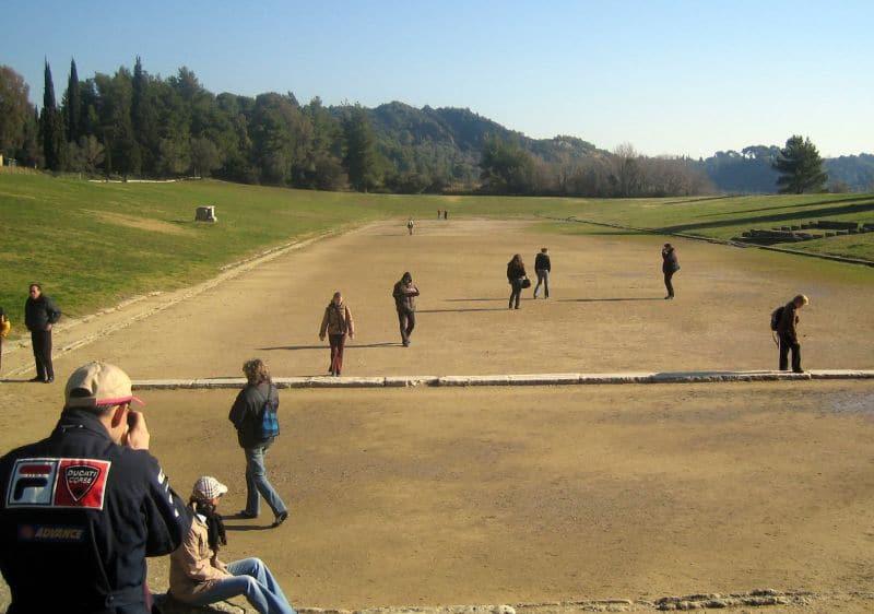 Das antike Olympiastadion fasste ca. 45.000 Zuschauer