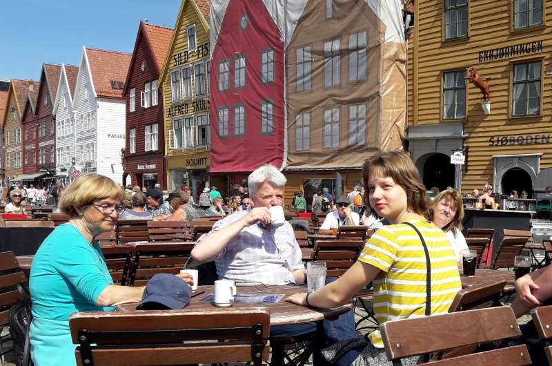 Pause am Hanseviertel Bryggen