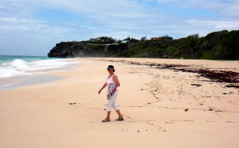 Manche Strände auf Barbados haben pinkfarbenen Sand