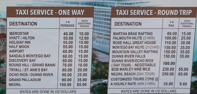 Preise Taxi Service