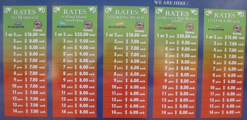 Preise auf einen Blick - Die Fahrpreise werden derzeit überarbeitet und vermutlich etwas steigen