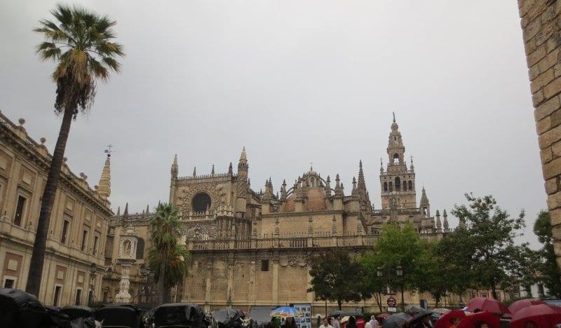 Regenwetter in Sevilla