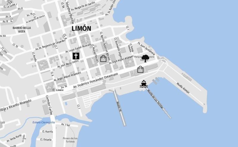 Rund um den Hafen in Puerto Limon