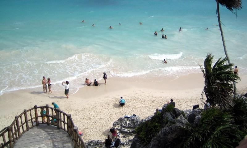 Schöner Strand in Tulum