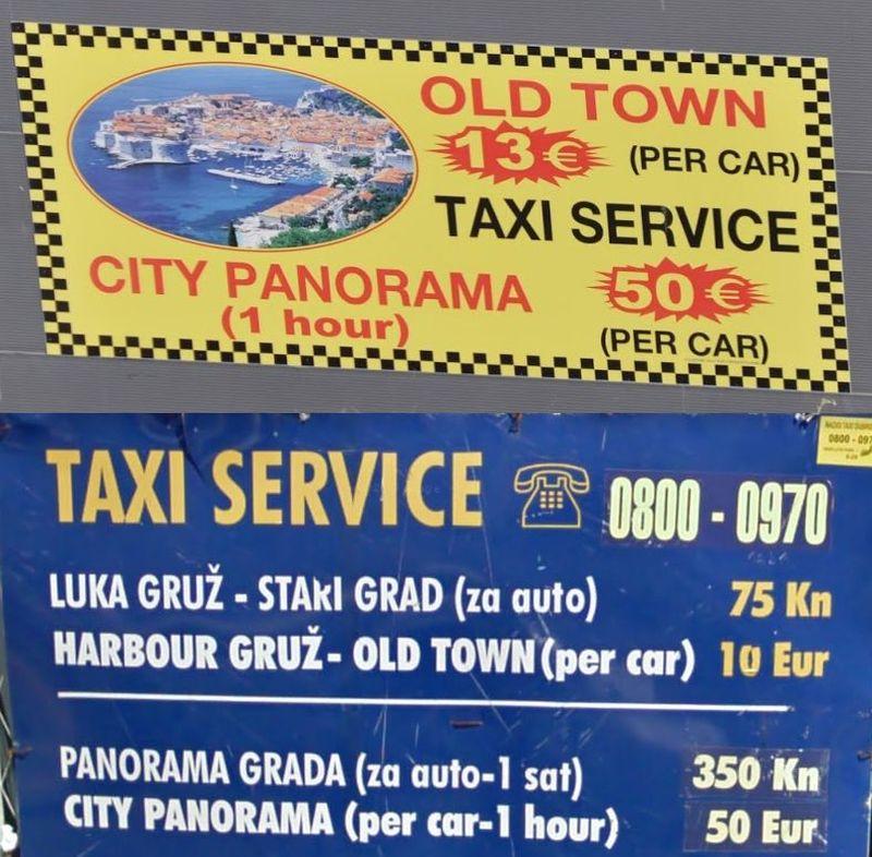 Dubrovnik auf eigene Faust mit einem Taxi