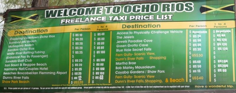 Landausflüge in Ocho Rios mit einem Taxi