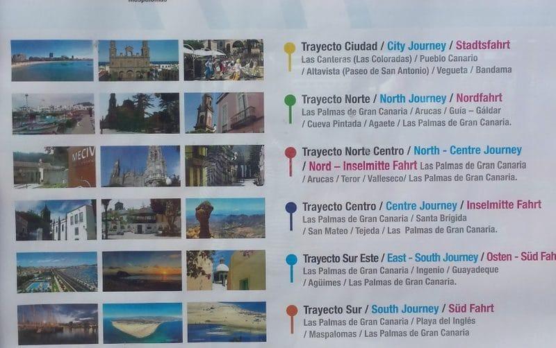 Am Kreuzfahrthafen von Las Palmas werden Taxitouren angeboten