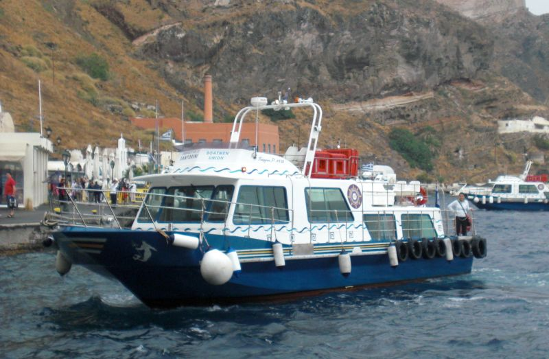 Tenderboote in Skala