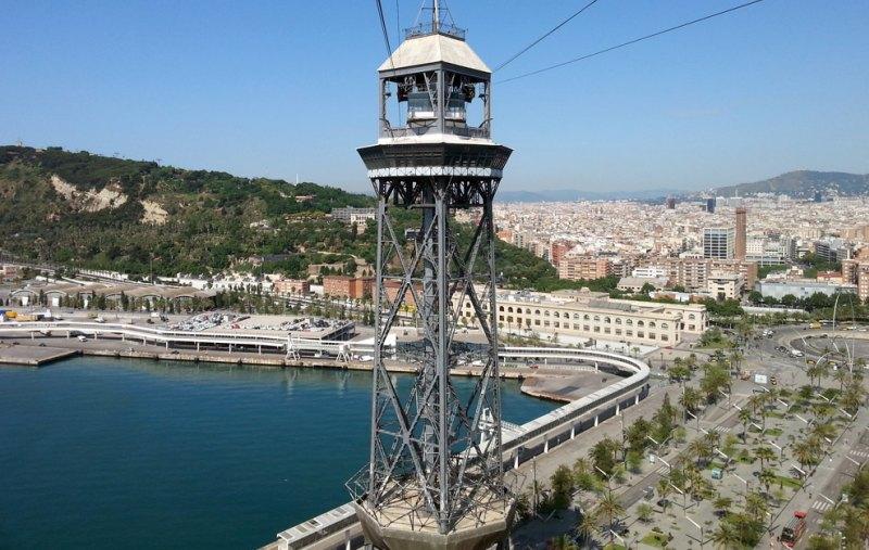 Torre de Jaume I der Hafenseilbahn