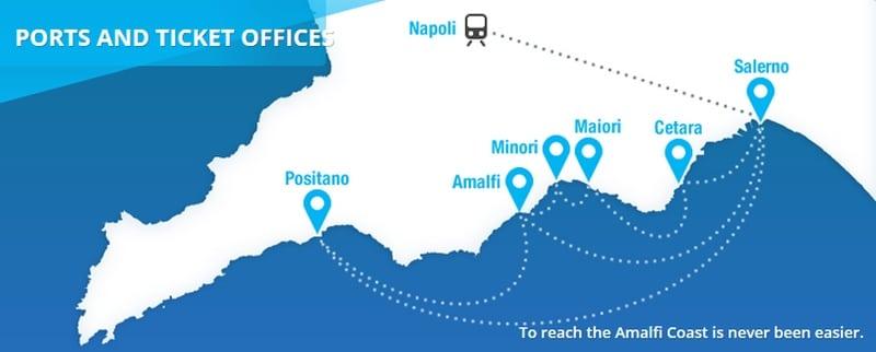 Fährverbindungen von Salerno auf eigene Faust