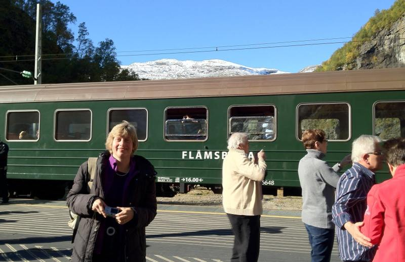 Unterwegs mit der Flamsbahn