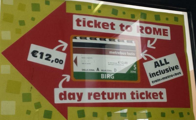Mit dem BIRG-Ticket nach Rom